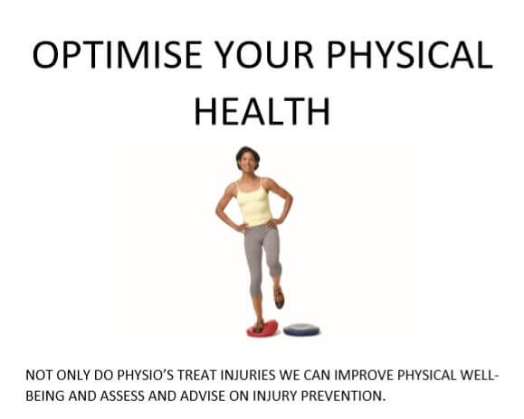 Wish that injury hadn't happened! Optimise Your Physical Health